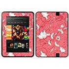Diabloskinz Vinyl Adhesive Skin/Decal/Sticker for 7 inch Kindle Fire HD (2012) - Red Flower
