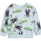 Mini Rodini Insects Sweatshirt - Light Blue