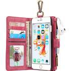CaseMe Zipper Wallet Metal Buckle Leather Case (iPhone 6/6S)