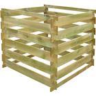 vidaXL Square Slatted Wooden Compost Bin 0.54 m3