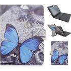 Samsung galaxy tab pro 8.4 läderfodral med motiv - blå fjäril