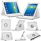 Stuff4 Leather Smart Case with 360 Degree Rotating Swivel Action and Free Screen Protector/Stylus Touch Pen for 7 inch Samsung Galaxy Tab 3 T210/T211/P3200/P3210/Kids Edition - White