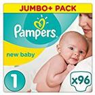 Pampers New Baby, 96 Nappies, 2-5 kg - Size 1