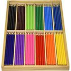 PlayBox Thin Colour Pencils in Wooden Box in 12 Colours 180-pack