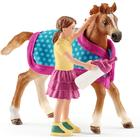 Schleich Foal with Blanket 42361