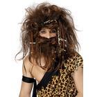 Vegaoo Grottmänniska peruk och skägg One-size