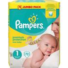 Procter & Gamble Pampers New Baby S1 2-5kg 72 st