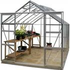 Simplicity Stableford 8x12 Plain Aluminium Greenhouse With Toughened Glass