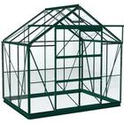 Simplicity Stableford Greenhouse 8x6 Green With Toughened Glass And Green Base