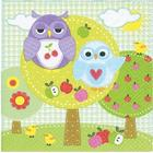20 napkins 33x33 Owls in the park
