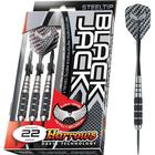Harrows Steeltip Black Jack 20g dartpile