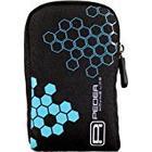 Pedea Kameratasche mit Schutzfolie für Casio Exilim EX/H20G/EX/ZR10/EX/ZR100/EX/ZR200/EX/H20G schwarz/blau