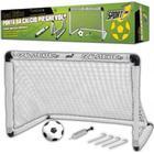 Sport1 Foldbart fodbolmål med fodbold og pumpe