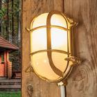 Moretti Oval væglampe Bengt til udendørs, messing