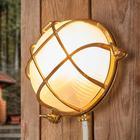 Moretti Bengt - væglampe til udendørs rund messing