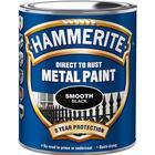 Hammerite Smooth Metalmaling Sort 0.75L