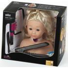 Klein Hairstyling Head with Braun Satin Hair 7 Hairstraightener 5245