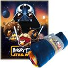 Angry birds star wars darth wader filt - fleecefilt