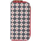 Pink Lining Wallet - Diamonds & Hearts