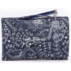 Melobaby Deluxe Nappy Wallet & Change Mat - LOVE Navy