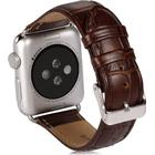 Benks calf leather armband apple watch 38mm brun