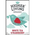 Higher Living White Tea Strawberry 20 Tepåsar