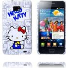 Samsung Galaxy S2 Samsung Galaxy S 2 Hello Kitty Cover (Grå Skitse - Rød Loop)