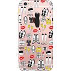 Iphone 6 / 6s mobilskal skal - coco fashion läppstift mode skor