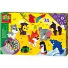 SES Creative Iron on Beads 3D Animals 06126