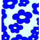 Efco Blommor 3,3 x 2,9 / 5,4 x 4,3 cm - blå 12 st. trä