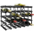 TREND Vinreol til 30 flasker - SORT - LEVERES SAMLET