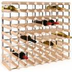 TREND Vinreol til 72 flasker - LYS - LEVERES SAMLET