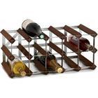 TREND Vinreol til 15 flasker - Mørk brun - LEVERES SAMLET