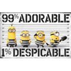 EuroPosters Poster Despicable Me (Dumma mej) 3 99% Adorable 1% Despicable V39780 91.5×61cm