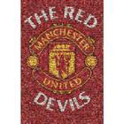 Manchester united affisch mosaic 48