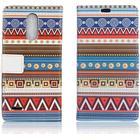 LG K10 2017 patterned PU leather flip case - Tribal Tribe Pattern