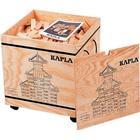 Kapla 1000 Holzplättchen in einer Holzkiste auf Rollen