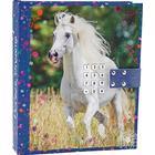 Topmodel Horses Dreams - Dagbog med Kode & Musik - Blå