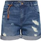Only Brooky Reg Denim Shorts Blue/Dark Blue Denim