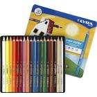LYRA Farb-Riese Color Pencil Varnished 18-pack