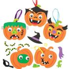 Baker Ross Pumpkin Funny Face Decoration Kits (Pack of 6)