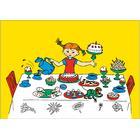 Pippi Langstrømpe fødselsdagskort, 10 stk