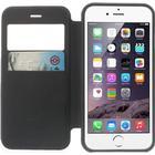 Apple iPhone 6/6s Bumper Læder Look Med Kortholder - Sort