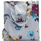 Joules Pacabag Pack-Away Shopper Bag Silver Posy