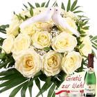 Blumenfee Hochzeits- Träumerei - Blumen zur Hochzeit - Weiß / Creme mit Tauben-Paar