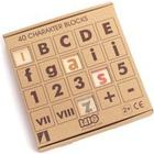 Bajo Wooden Letter and Number Cube Game - 40 Pieces