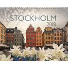 Väggkalender Stockholm 2018