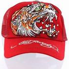 Keps Ed Hardy Red Open Mouth Tiger Cap