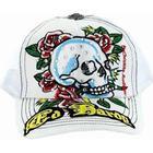 Keps Ed Hardy Skull n Roses White Cap