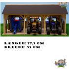 Kids globe farming Kids Globe Traktor Garage med plads til 3 stk